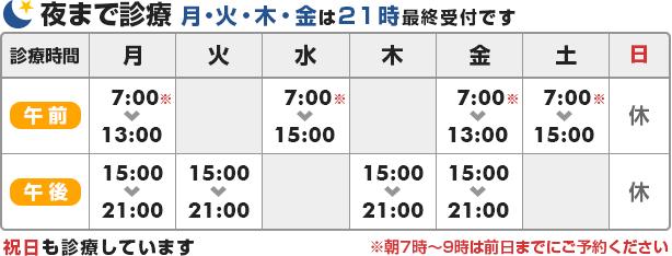 秋田の整体なら青山バランスアップ治療院の診療時間
